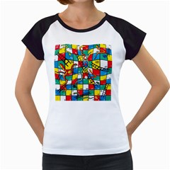 Snakes And Ladders Women s Cap Sleeve T