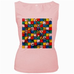 Snakes And Ladders Women s Pink Tank Top