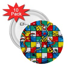 Snakes And Ladders 2 25  Buttons (10 Pack)