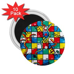 Snakes And Ladders 2 25  Magnets (10 Pack)