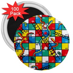 Snakes And Ladders 3  Magnets (100 Pack)
