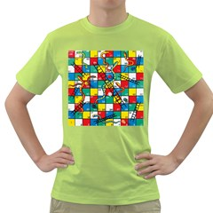 Snakes And Ladders Green T Shirt