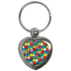 Snakes And Ladders Key Chains (heart)