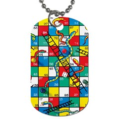 Snakes And Ladders Dog Tag (one Side)