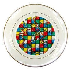 Snakes And Ladders Porcelain Plates