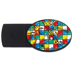 Snakes And Ladders Usb Flash Drive Oval (4 Gb)