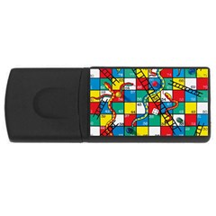 Snakes And Ladders Rectangular Usb Flash Drive by BangZart