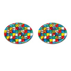 Snakes And Ladders Cufflinks (oval)