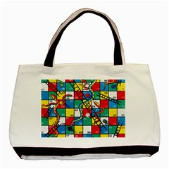 Snakes And Ladders Basic Tote Bag by BangZart