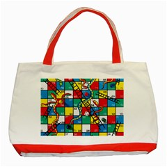 Snakes And Ladders Classic Tote Bag (red)
