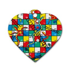 Snakes And Ladders Dog Tag Heart (two Sides)