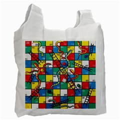 Snakes And Ladders Recycle Bag (one Side)