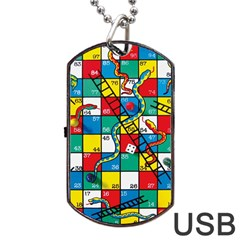 Snakes And Ladders Dog Tag Usb Flash (two Sides) by BangZart