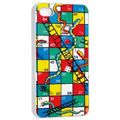 Snakes And Ladders Apple Iphone 4/4s Seamless Case (white)