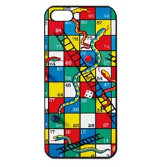 Snakes And Ladders Apple Iphone 5 Seamless Case (black)