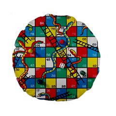 Snakes And Ladders Standard 15  Premium Round Cushions