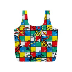 Snakes And Ladders Full Print Recycle Bags (s)
