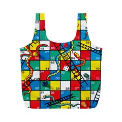 Snakes And Ladders Full Print Recycle Bags (m)