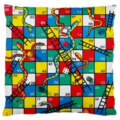 Snakes And Ladders Large Flano Cushion Case (one Side)