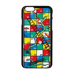 Snakes And Ladders Apple Iphone 6/6s Black Enamel Case