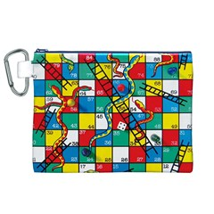 Snakes And Ladders Canvas Cosmetic Bag (xl)