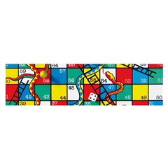 Snakes And Ladders Satin Scarf (oblong)