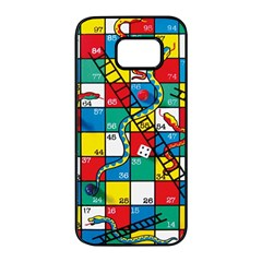 Snakes And Ladders Samsung Galaxy S7 Edge Black Seamless Case