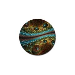 Fractal Snake Skin Golf Ball Marker (4 Pack)