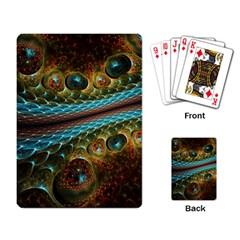 Fractal Snake Skin Playing Card