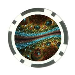 Fractal Snake Skin Poker Chip Card Guard