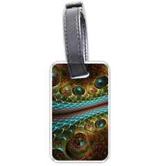 Fractal Snake Skin Luggage Tags (one Side)