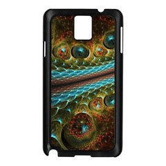 Fractal Snake Skin Samsung Galaxy Note 3 N9005 Case (black)