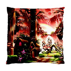 Fantasy Art Story Lodge Girl Rabbits Flowers Standard Cushion Case (one Side)