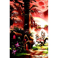 Fantasy Art Story Lodge Girl Rabbits Flowers 5 5  X 8 5  Notebooks by BangZart