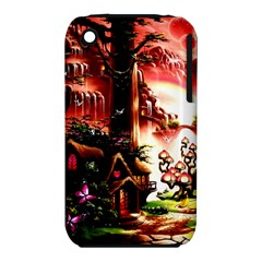 Fantasy Art Story Lodge Girl Rabbits Flowers Iphone 3s/3gs by BangZart