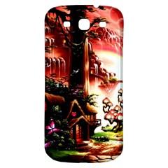 Fantasy Art Story Lodge Girl Rabbits Flowers Samsung Galaxy S3 S Iii Classic Hardshell Back Case by BangZart