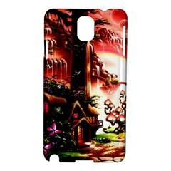 Fantasy Art Story Lodge Girl Rabbits Flowers Samsung Galaxy Note 3 N9005 Hardshell Case