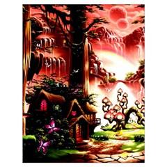 Fantasy Art Story Lodge Girl Rabbits Flowers Drawstring Bag (large)