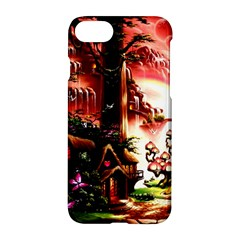 Fantasy Art Story Lodge Girl Rabbits Flowers Apple Iphone 7 Hardshell Case by BangZart