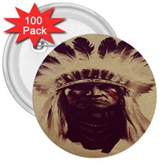 Indian 3  Buttons (100 Pack)  by BangZart