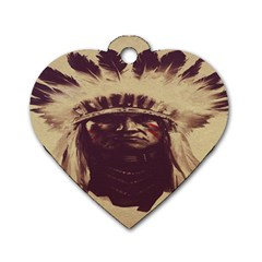 Indian Dog Tag Heart (two Sides)