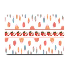 Strawberries Plate Mats by SuperPatterns