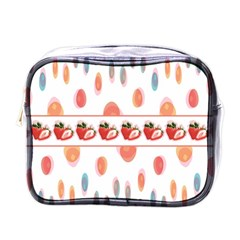 Strawberries Mini Toiletries Bags by SuperPatterns