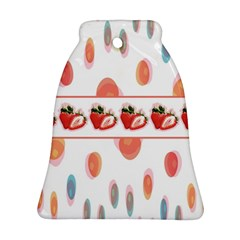 Strawberries Bell Ornament (two Sides) by SuperPatterns