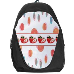 Strawberries Backpack Bag by SuperPatterns