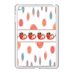 Strawberries Apple Ipad Mini Case (white) by SuperPatterns