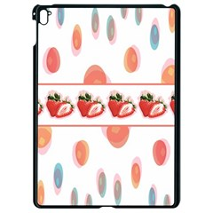 Strawberries Apple Ipad Pro 9 7   Black Seamless Case by SuperPatterns