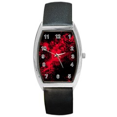 Red Smoke Barrel Style Metal Watch by berwies