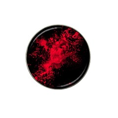 Red Smoke Hat Clip Ball Marker by berwies