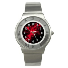 Red Smoke Stainless Steel Watch by berwies